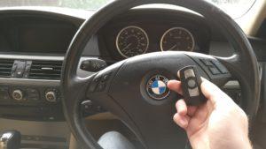 BMW 525 all keys lost. new 3 button remote key programmed