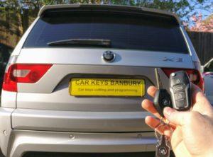 BMW X3 new 3 button flip key cut and programmed