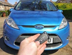 Ford Fiesta new flip key