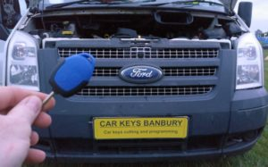 Ford Transit all keys lost. New 3 button remote key cut and programmed.