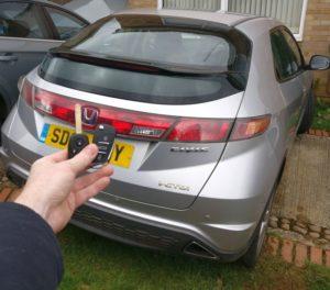 Honda Civic spare key (flip key)