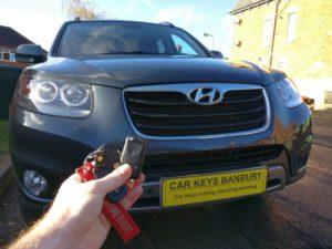 Hyundai Santa Fe 2012 spare key (flip key)