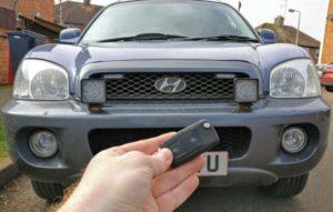 Hyundai Santa Fe spare key (flip key)