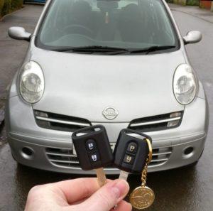 Nissan Micra spare key