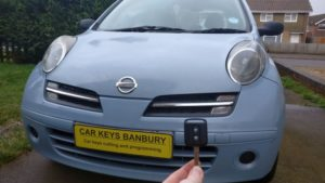 Nissan Micra all keys lost. new 2 button remote key cut and programmed