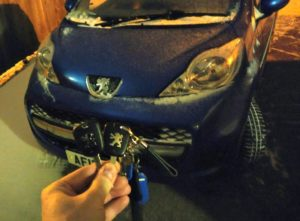 Peugeot 107 spare key