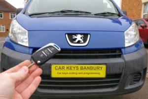 Peugeot Expert spare key (flip key)