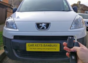 Peugeot Partner 2011 spare key (flip key)