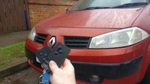 Renault Megane spare key card