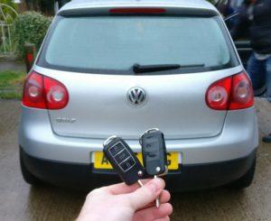 VW Golf V spare key