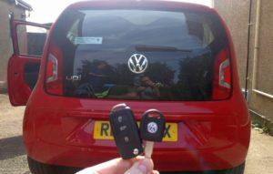 VW UP spare key