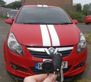 Vauxhall Corsa spare key (manual key)