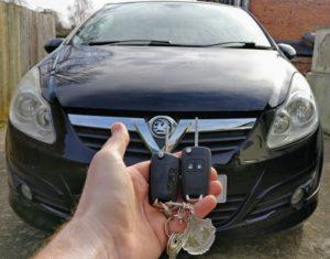 Vauxhall Corsa D spare key