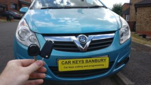 Vauxhall Corsa D all keys lost. a manual and a remote key cut and programmed.