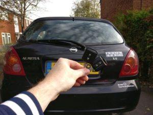 Nissan Almera spare key