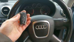 Audi A3 All keys lost. new 3 button remote key programmed