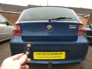 BMW 120D all keys lost. New 3 button remote key programmed