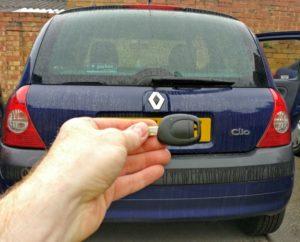 Renault Clio 1 button spare key.