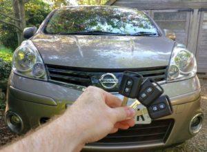 Nissan Note spare keys
