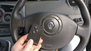 Renault Scenic new key card programmed