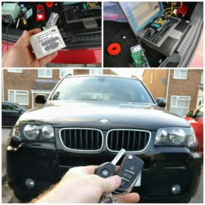 BMW X3 spare key from immo box