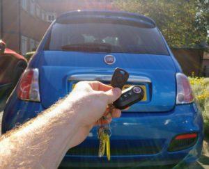 Fiat 500 spare key