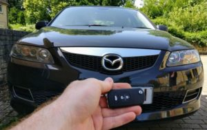Mazda 6 all keys lost. New 3 button remote key cut and programmed