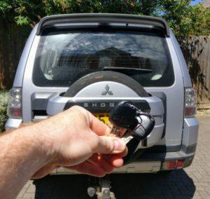 Mitsubishi shogun spare key
