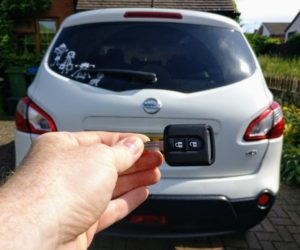 Nissan Qashqai 2012 all keys lost. New 2 button key cut and programmed.