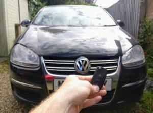 VW jetta all keys lost. New 3 button key cut and programmed.