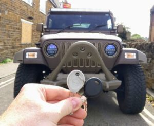 Jeep wrangler new transponder key cut and programmed