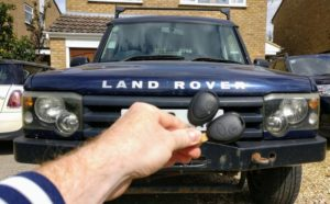 Land rover Discovery II new 2 button key cut and programmed
