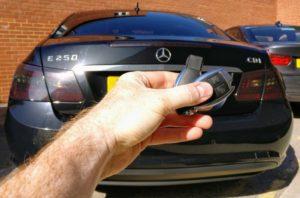 Mercedes E250 new 3 button key programmed and emergency key blade cut.