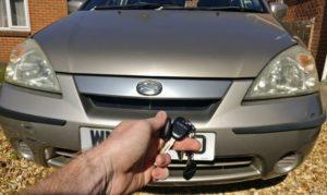 Suzuki Liana new transponder key cut and programmed.