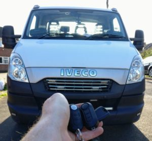 Iveco daily 2013 new 3 button key and a transponder key cut and programmed