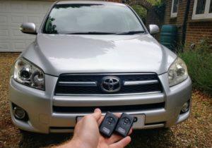 Toyota RAV4 new smart key programming for spare key.