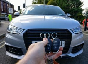 Audi A1 2017 new 3 button key cut and programmed for spare