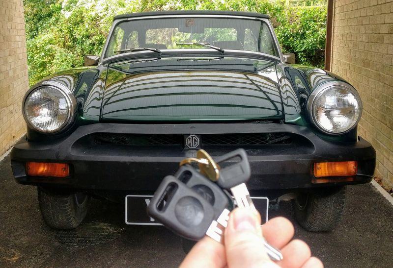MG Midget 1979 two spare key cut.