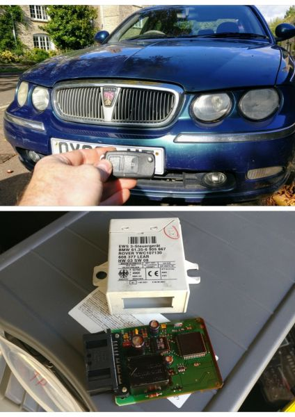 Rover 75 lost all keys. New 2 button key cut and programmed.