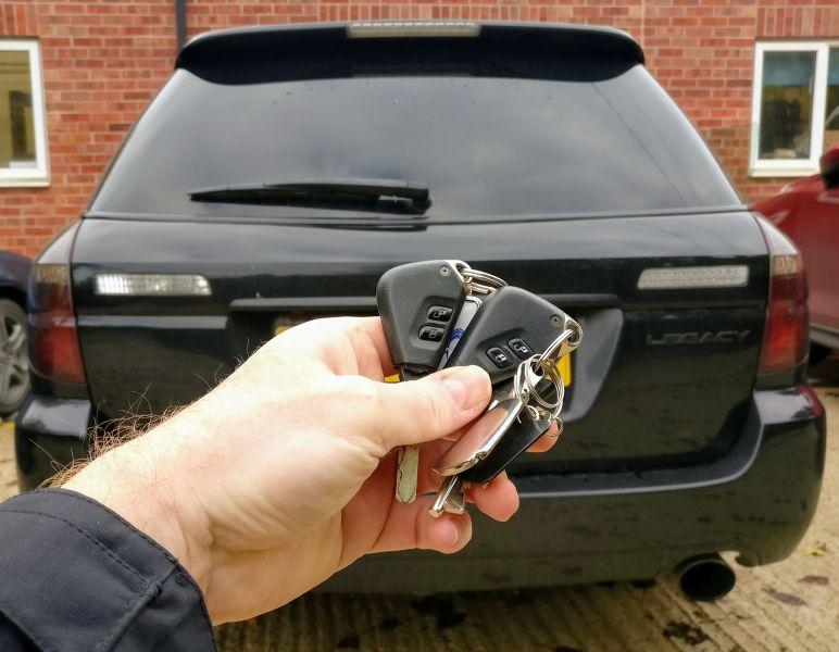 Subaru Legacy spare key programmed.