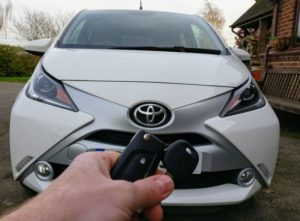 Toyota Aygo 2016 spare key cut and programmed