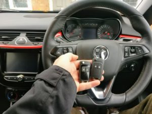 Vauxhall Corsa E (2018) new key cut and programmed for spare