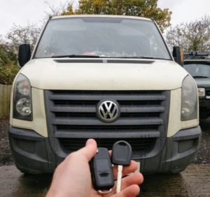 VW crafter new transponder key cut and programmed for spare