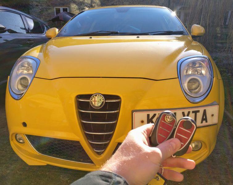 Alfa Romeo Mito spare key.