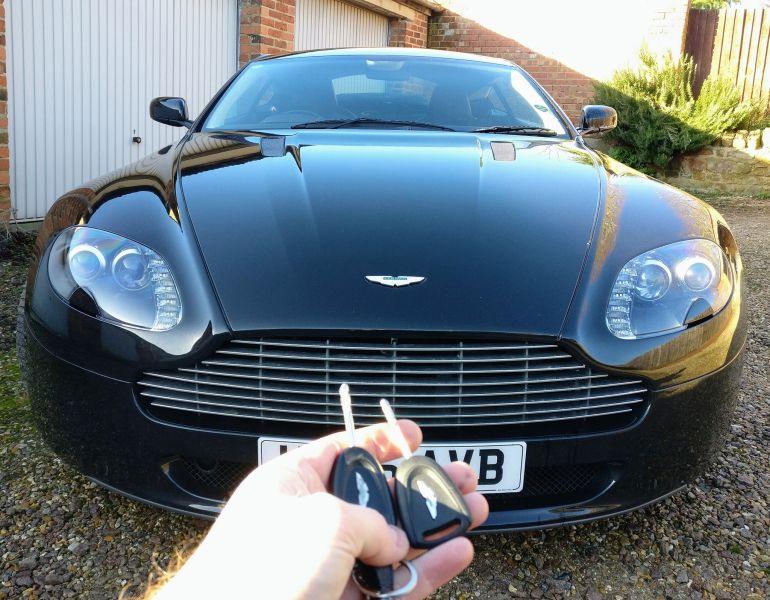 Aston Martin spare key.