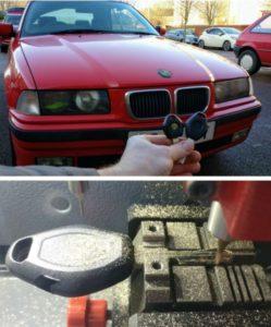 BMW M3 1997 spare key.
