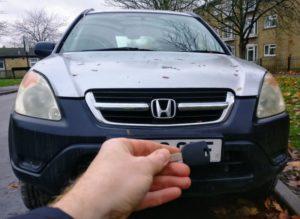 Honda CRV lost all keys. new key cut and programmed.