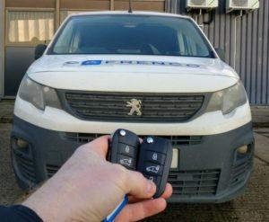 Peugeot Partner 2017 spare key.