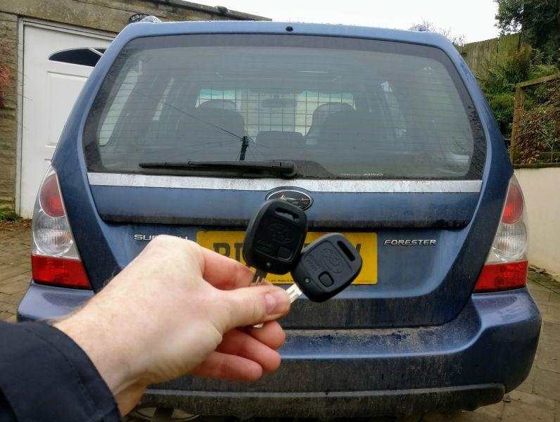 Subaru Forester 2007 spare key.