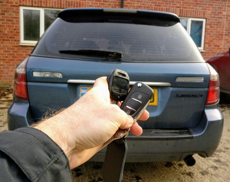 Subaru Legacy new flip key for spare.